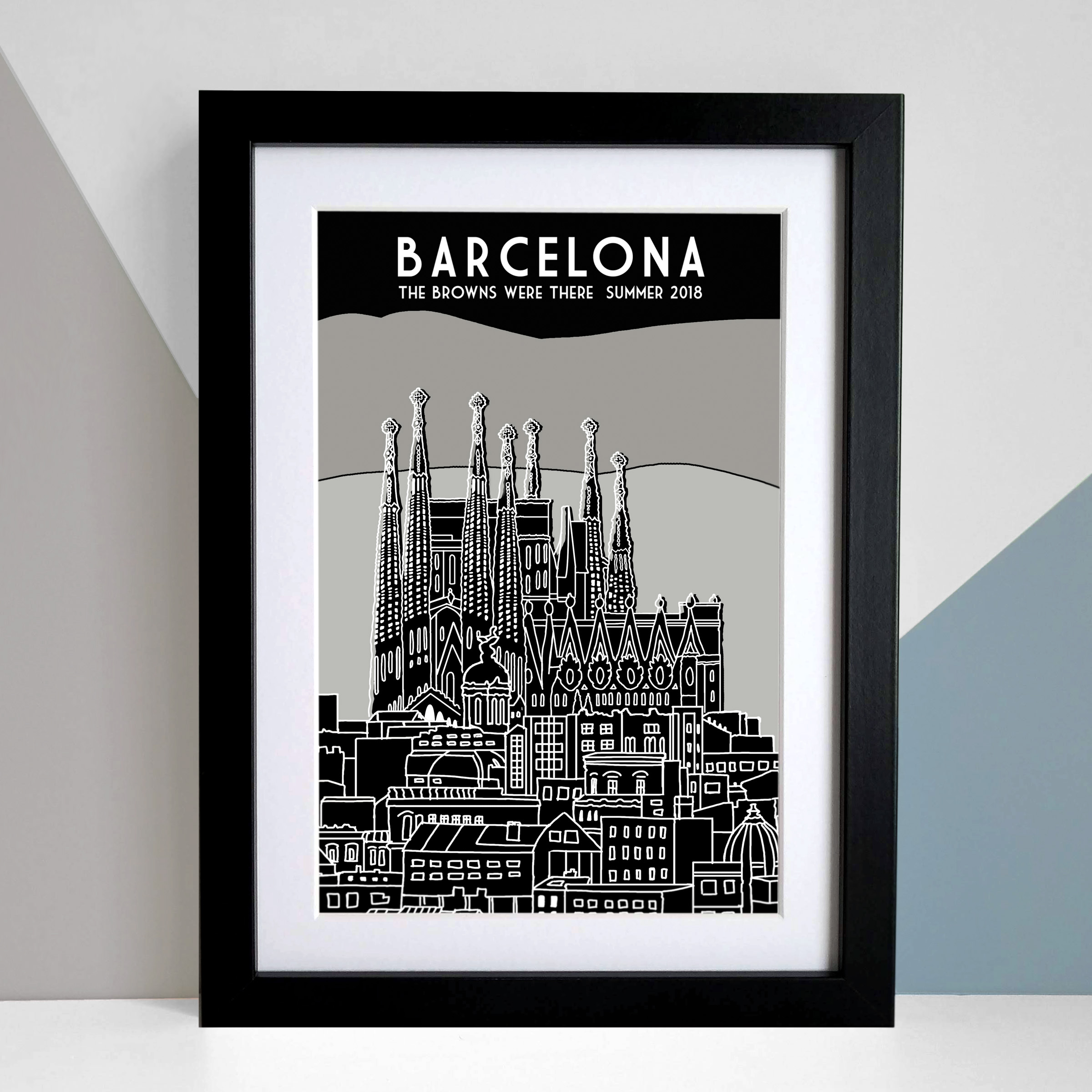 BARCELONA A4 family personalisation