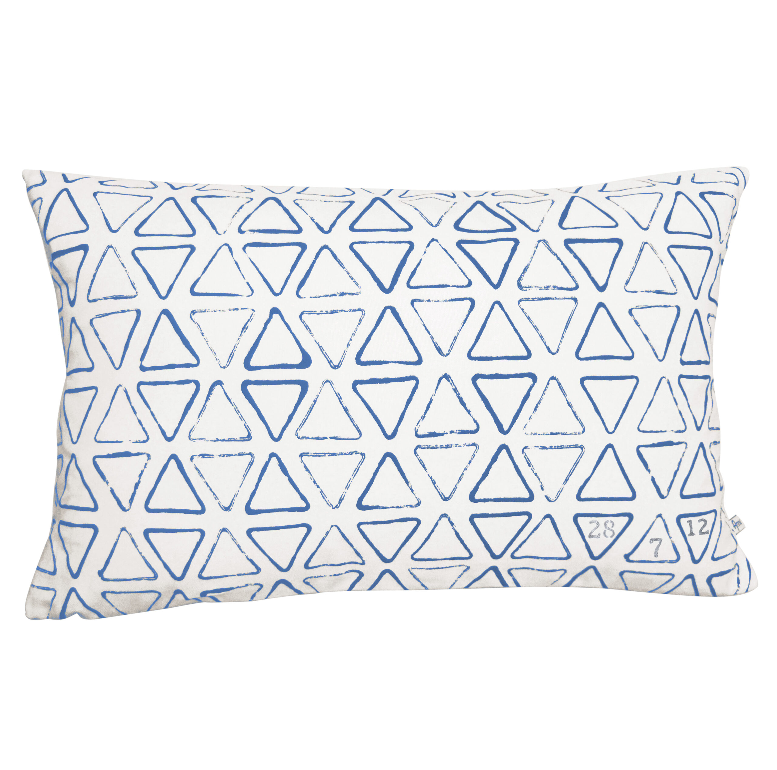 Oblong cushion with date silver
